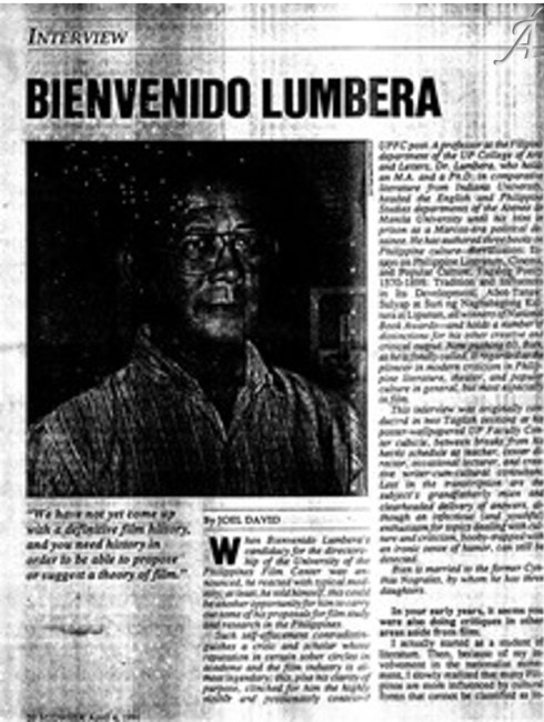 Midweek - Bien Lumbera interview